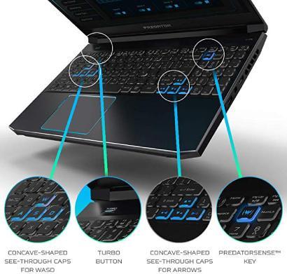 Predator Helios 300 2019 keyboard