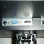HP VH240a monitor review about its HDMI and VGA connectors