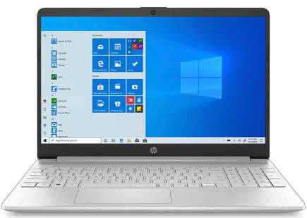 HP 15-inch FHD Laptop, 10th Gen Intel Core i5-1035G1, 8 GB RAM, 256 GB Solid-State Drive, Windows 10 Home (15-dy1036nr, Natural Silver) has a nice screen