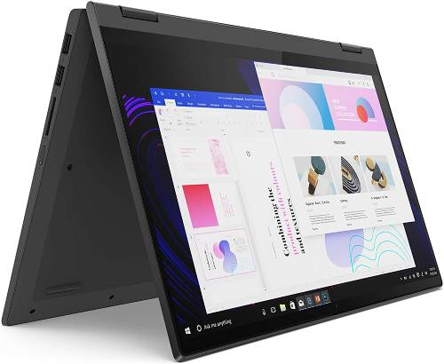 "Lenovo Flex 5 14"" 2-in-1 Laptop, 14.0"" FHD (1920 x 1080) Touch Display, AMD Ryzen 5 4500U Processor, 16GB DDR4 OnBoard RAM, 256GB SSD, AMD Radeon Graphics, Windows 10, 81X20005US, Graphite Grey with multi-purpose use"