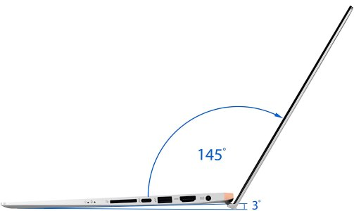 "ASUS ZenBook 15 Laptop, 15.6"" UHD 4K NanoEdge Display, Intel Core i7-10510U, GeForce GTX 1650, 16GB, 512GB PCIe SSD, ScreenPad 2.0, Amazon Alexa Compatible, Windows 10, Icicle Silver, UX534FTC-AS77 hinge"