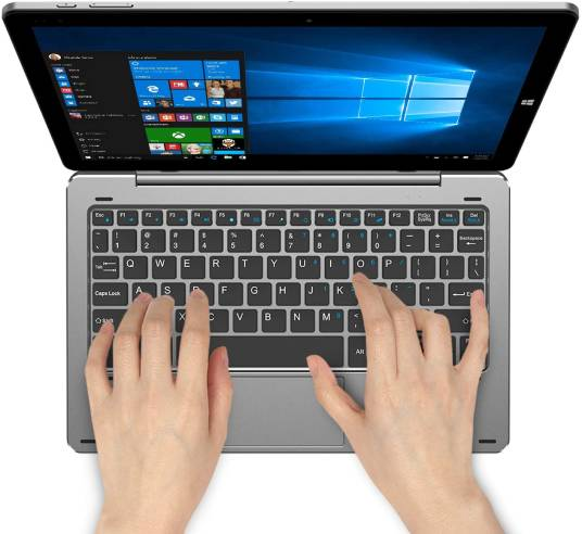 CHUWI Hi10 X tablet PC with the keyboard