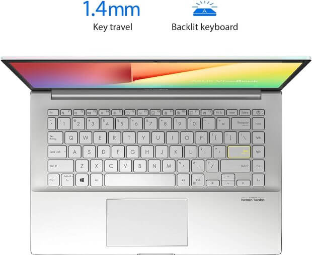 Backlit full-sized keyboard of this VivoBook model