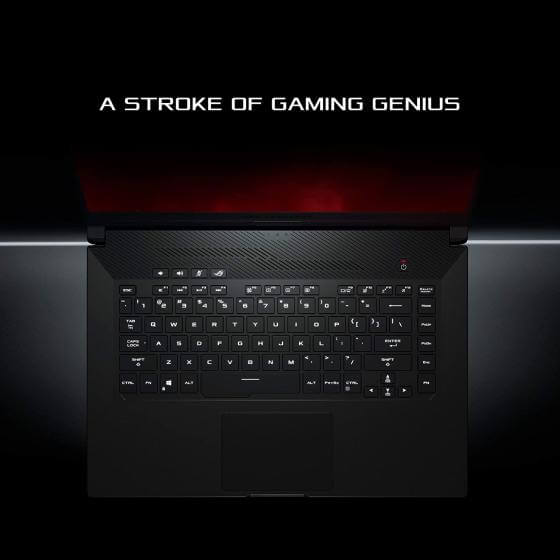 Zephyrus G15 GA502 backlit keyboard