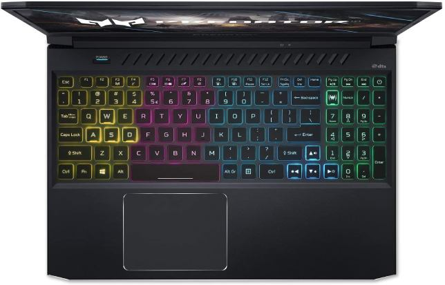 Acer Predator Helios 300 PH315-53-71HN and its 4-Zone RGB Keyboard
