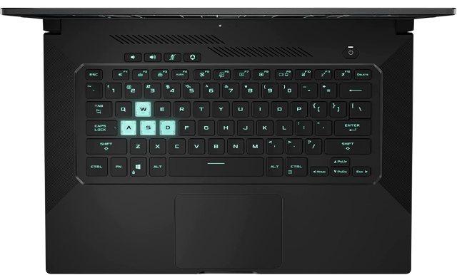 ASUS TUF Dash F15 2021 TUF516PE-AB73 with 3050 Ti GPU and quiet backlit keyboard