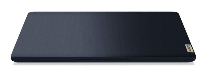 The abyss blue Lenovo IdeaPad 3 is simple and sleek