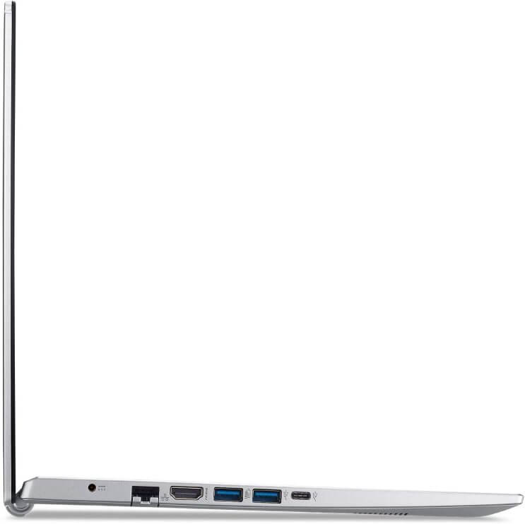 The Acer Aspire 5 11th Gen i3 variant with its USB C and Ethernet port